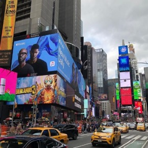 South African House DJ Black Coffee's latest release earns him a giant billboard on New York's Times Square