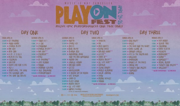 PLAY ON FESTIVAL LINEUP